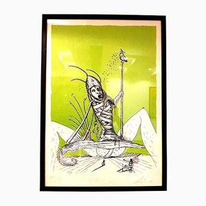 Lithographie Les Songes Drolatiques Signée à la Main par Salvador Dali, 1973