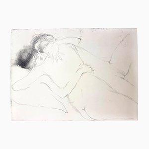 Incisione The Hug di Jean-Gabriel Domergue, 1924