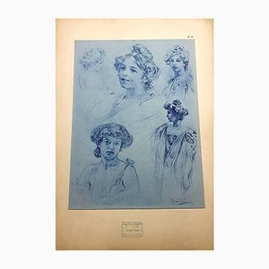 Women Lithograph by Alphonse Mucha, 1902