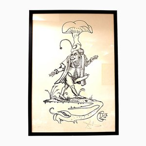Les Songes Drolatiques Lithograph by Salvador Dalí, 1973