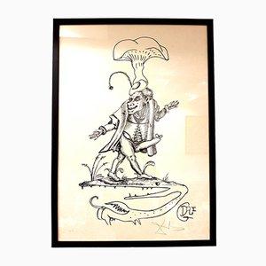 Lithographie Les Songes Drolatiques par Salvador Dalí, 1973