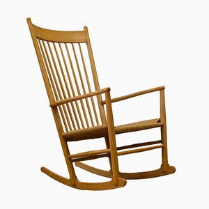 Danish J16 Beech Rocking Chair by Hans J. Wegner, 1981