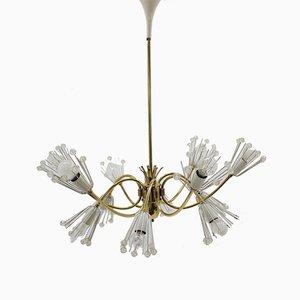 Lámpara de araña Sputnik Mid-Century de Emil Stejnar para Rupert Nikoll, 1959