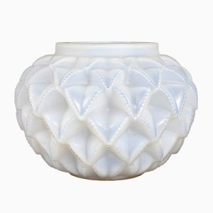 Opalescent Glass Lanquedoc Vase by Rene Lalique, 1929