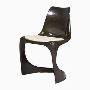 Brauner Vintage Stuhl aus Kunststoff von Steen Ostergaard für Cado, 1971