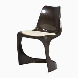 Vintage Brown Plastic Chair by Steen Ostergaard for Cado, 1971