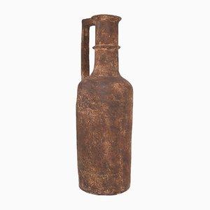 Flaschenförmige französische Vase aus Steingut, 1930er