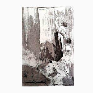 Incisione Loneliness di Jean Jansem, 1974