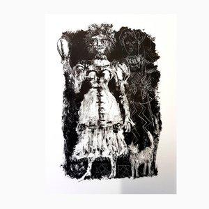 Lithographie Queen of Spades par Antoni Clavé, 1946