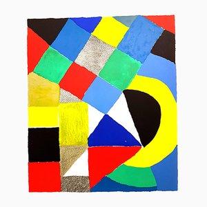 Composition Lithografie mit Originalsignatur von Sonia Delaunay, 1960er