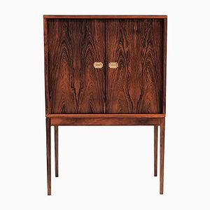 Vintage Brazilian Rosewood Model 132 Bar Cabinet by Henning Korch for Silkeborg Møbelfabrik