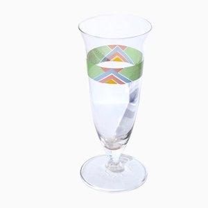Italian Geometrical Glasses from Cerve, 1980s, Set of 7