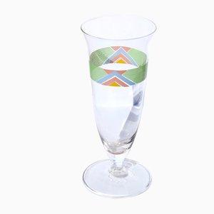 Italienische Gläser mit geometrischem Motiv von Cerve, 1980er, 7er Set