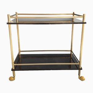 Lacquered Goatskin Drinks Trolley by Aldo Tura, 1960s