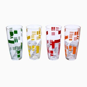 Italian Tumbler Glasses, 1960s, Set of 4