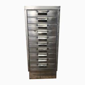 Vintage Stripped Metal Filing Cabinet, 1970s