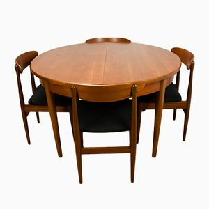 Vintage Dining Table & 4 Chairs, 1960s