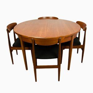Vintage Esstisch & 4 Stühle, 1960er