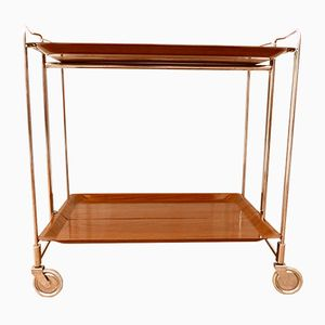Vintage Folding Serving Bar Cart, 1970s