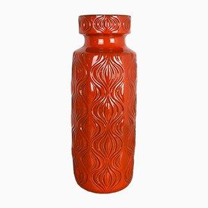 Große deutsche Fat Lava Vase mit Zwiebelmuster von Scheurich, 1970er