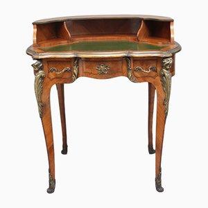 Scrivania in legno kingwood e metallo dorato, fine XIX secolo