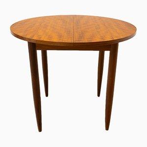 Mesa de comedor extensible redonda, años 60