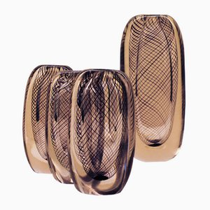 Swedish Glass Vases by Vicke Lindstrand for Kosta, 1950s, Set of 4