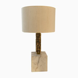 Bronze & Marble Table Lamp by Luciano Frigerio, 1970s