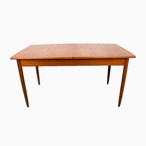 Vintage Teak Extendable Dining Table, 1960s