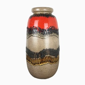 Large Fat Lava 284-53 Floor Vase from Scheurich, 1970s