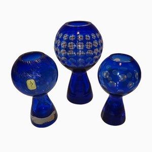 Glass Vases by Marita Voigt for Derenburg, 1970s, Set of 3