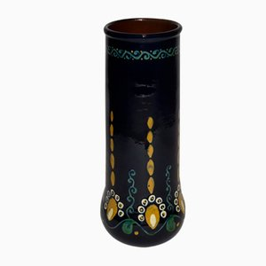 Antique Slipware Vase by Alfred Kusche for Karlsruher Majolika