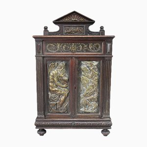 Antique Renaissance Style Italian Oak Cupboard