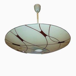 Lámpara de araña vintage de vidrio, años 60