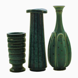 Argenta Vases by Wilhelm Kåge for Gustavsberg, 1950s, Set of 3
