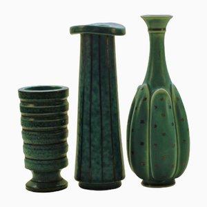 Vases Argenta par Wilhelm Kåge pour Gustavsberg, 1950s, Set de 3