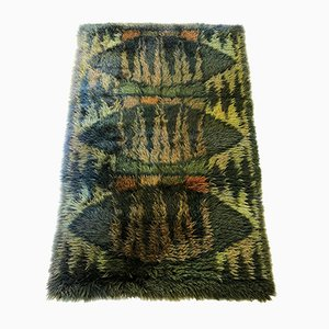 Swedish Abstract Rya Rug, 1960s