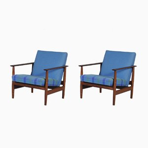 Vintage Teak Lounge Chairs by Ingmar Relling for Ekornes, 1960s, Set of 2