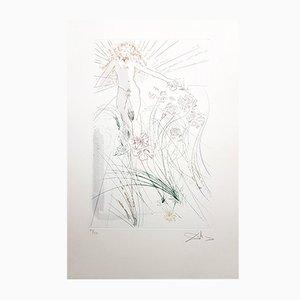 Aquatintee The Beloved Feeds Among the Lilies Signée par Salvador Dali, 1971