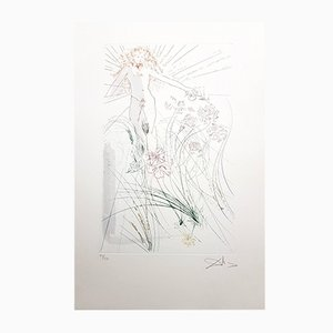 The Beloved Feeds Among the Lilies Signed Aquatint by Salvador Dali, 1971
