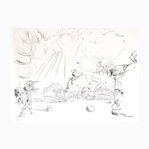 Cadaques Beach Original Etching by Salvador Dalí­, 1967
