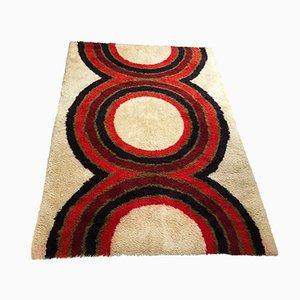 Alfombra Rya danesa grande de lana de Hojer Eksport Wilton, años 60