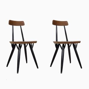 Pirkka Dining Chairs by Ilmari Tapiovaara for Laukaan Puu, 1955, Set of 2