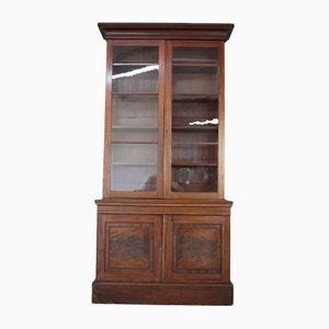 Antikes verglastes Bücherregal aus Mahagoni