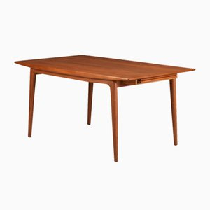 Boomerang Extendable Teak Dining Table by Alfred Christensen for Slagelse Møbelværk, 1960s