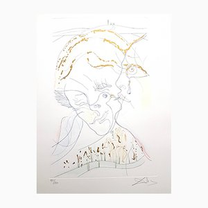 Dove Eyes Signed Aquatint by Salvador Dali, 1971