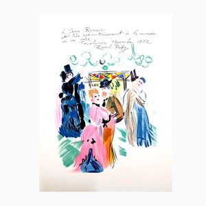Homage to Renoir Lithograph by Raoul Dufy, 1965
