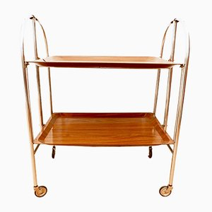 Vintage Collapsible Bar Cart, 1970s