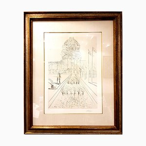 San Francisco City Hall Original Handsigned Etching by Salvador Dalí­, 1970