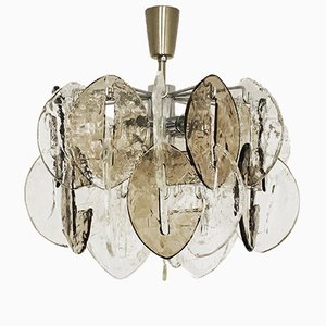 Smoked Glass Chandelier by J.T. Kalmar for Kalmar Franken KG, 1960s